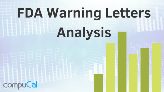 Analysis on FDA warning letters with calibration and maintenance issues