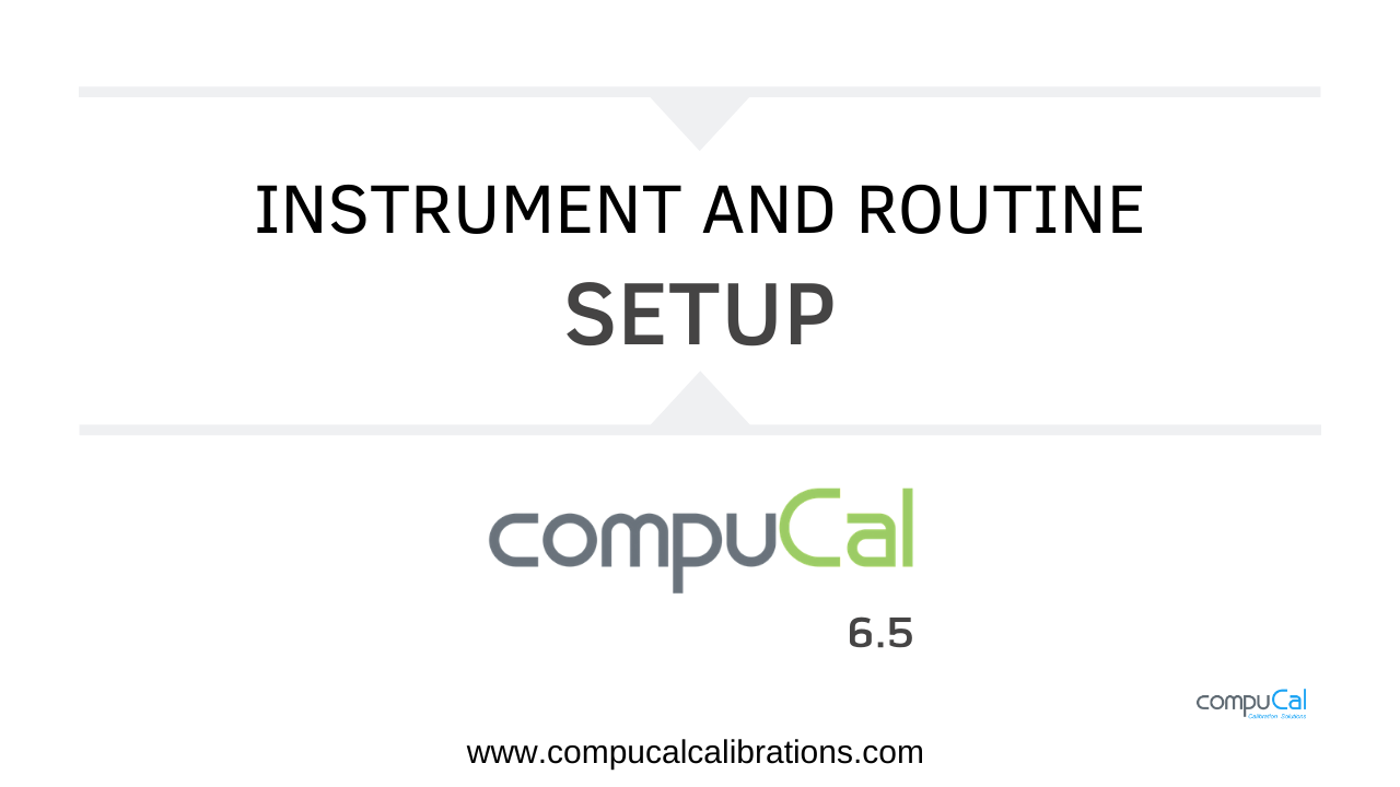 Instrument & Routine Setup Video