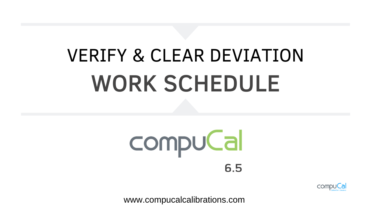 Verify and Clear Deviation video